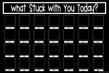 What Stuck With You Exit Slip Poster {20x30 Black & White}