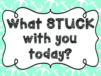 What Stuck With You Today? { Nautical }