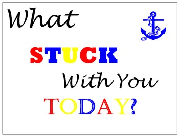 What Stuck With You Today? Nautical Theme / Red, White, Bl