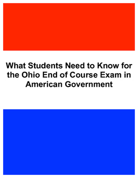 What Students Need to Know for the Ohio End of Course Exam