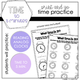 Telling Time to Five Minutes {2nd Grade}