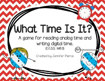 What Time Is It?  A math game to practice telling time to