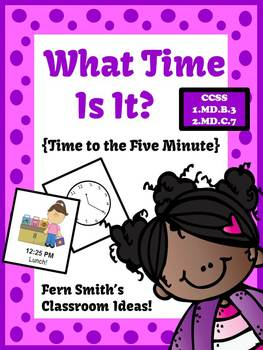 St Valentine's Day Telling Time to the Five Minute Center Game
