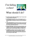 """""""What To Do When You're Failing"""" Handout"""