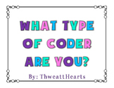 What Type of Coder Are You? - Coding Rubric Freebie