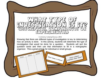 What Type of Investigation Is It? (Descriptive, Comparativ