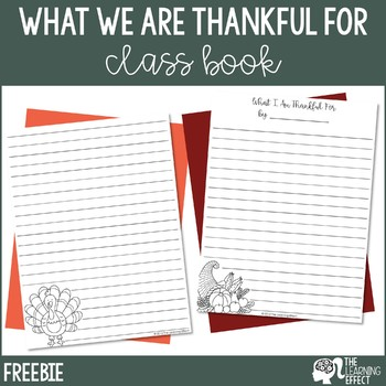 What I Am Thankful For Writing Paper - FREE