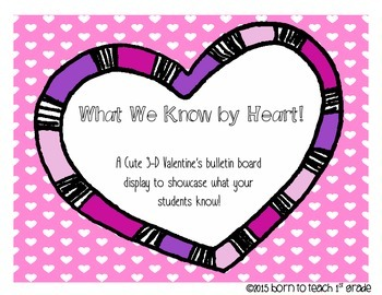 What We Know By Heart: A Bulletin Board Displaying what yo