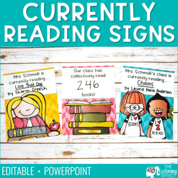 What We're Reading Signs {Editable}