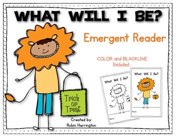 What Will I Be? {Halloween} Emergent Reader Kindergarten a
