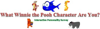 What Winnie the Pooh Character Are You? Interactive Person