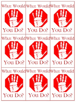 What Would You Do? Middle School Card Game