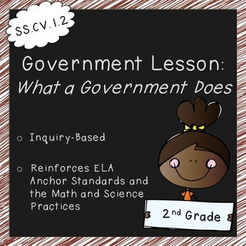 What a Government Does (2nd Grade, Standards Aligned)