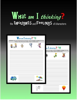 What am I thinking?  the thoughts and feelings of characters