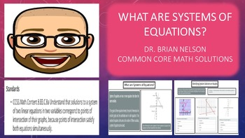 What are System of Equations? (PowerPoint Lesson with Prin