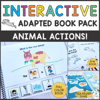 What are the Animals Doing? - Adapted Book Pack - Present