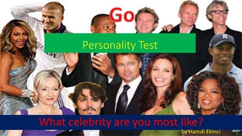 What celebrity are you most like? Personality
