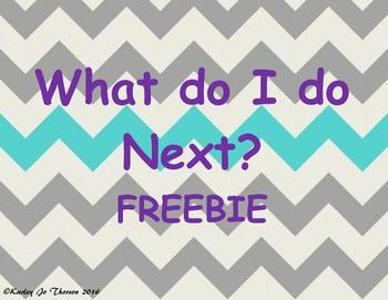 What do I do Next? Poster Freebie