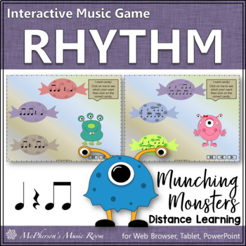 Munching Monsters (Eighth Notes) Interactive Rhythm Game