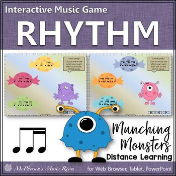 1 eighth/2 sixteenths - Munching Monsters -  Interactive R