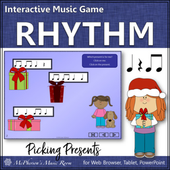 Picking Presents!  Interactive Rhythm Game (Eighth Notes)