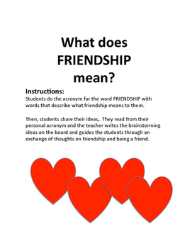 What does FRIENDSHIP mean?