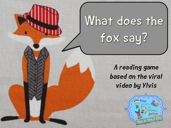 What does the fox say sight words