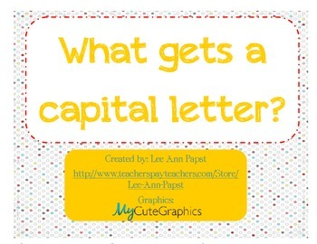 What gets a capital?