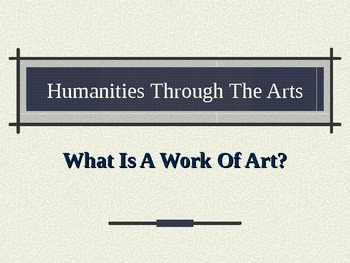 What is Art?  Defining art through form, content, and part