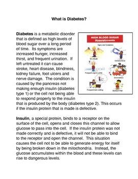 What is Diabetes? Common Core Activity