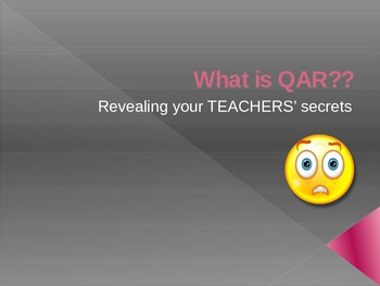 What is QAR: Question, Answer, Relationship