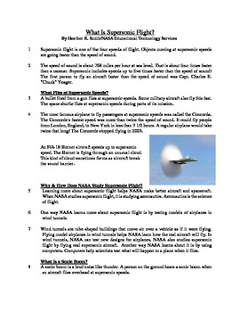 What is Supersonic Flight? - Informational Text Test Prep