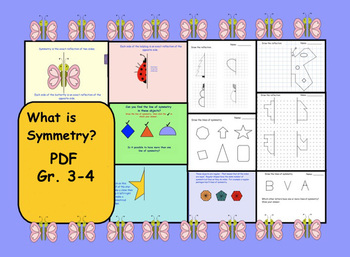 What is Symmetry? Lesson and Printables for Gr. 3-4 PDF