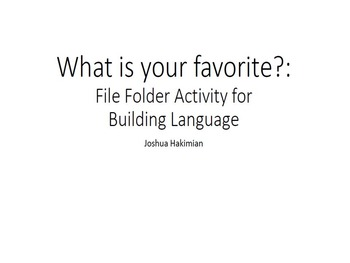 What is Your Favorite?: File Folder Activity for Building
