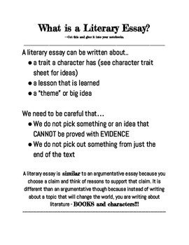 What is a Literary Essay?