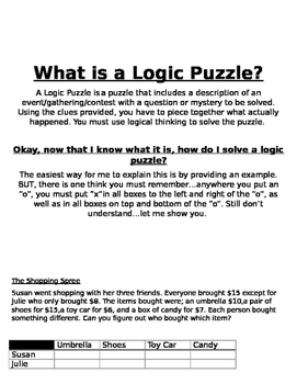 What is a Logic Puzzle?