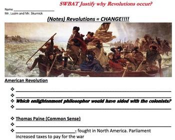 What is a Revolution? Lesson Bundle, Cooperative Activity,