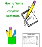 What is a Sentence?  Where & When to put a period.