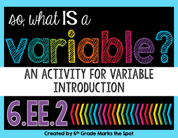 What is a Variable?  An Alphabet Activity to Introduce Variables