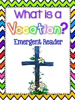 What is a Vocation? Emergent Reader Freebie