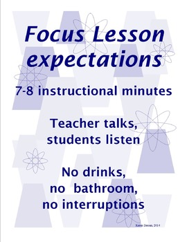 Launching Readers Workshop - What is a focus lesson?
