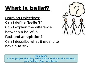 What is belief - Full lesson