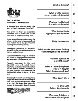 What is dyslexia? booklet