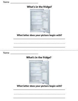 What is in the fridge? Write to Learn