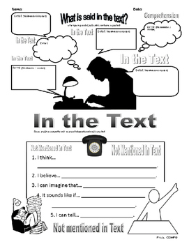 What Is Said In The Text?-Comprehension