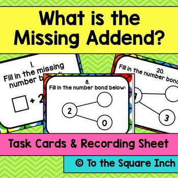 What is the Missing Addend Task Cards