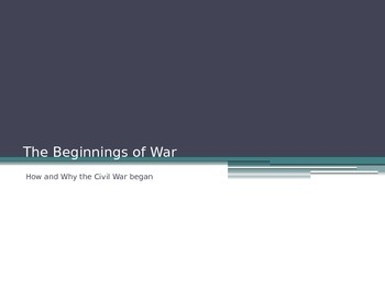What led to the Civil War?