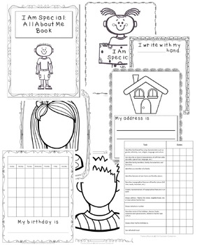 What makes me special - Kindergarten, preschool Social Studies