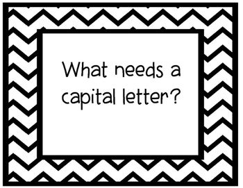 What needs a capital letter?