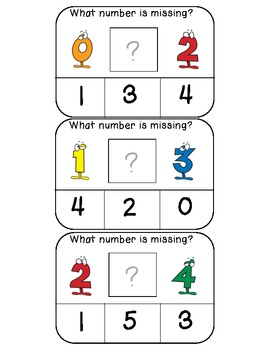 What number is missing (numerical order) clothespin activi